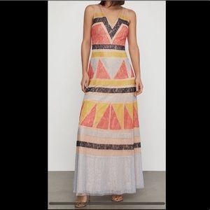 BCBGMaxAzria Color Block Gown